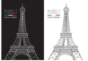Free Abstract Line Eiffel Tower Vector
