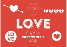 Valentines day typography