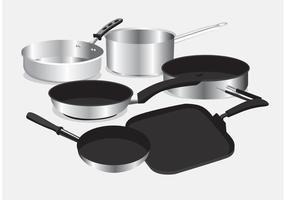 Pan with Handle Vectors
