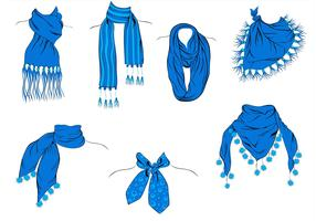 A Variety of Blue Neck Scarf Vectors