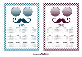 Hipster Style 2015 Calendar Cards