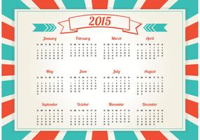 Retro Style 2015 Calendar