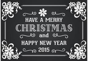 Blackboard Style Christmas Card