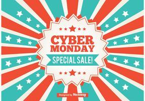 Cyber Monday Promotional Sunburst Background