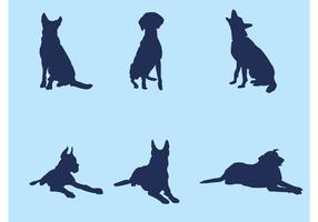 Big Dog Silhouette Vectors