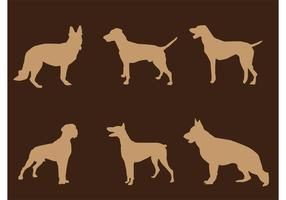 Standing Dog Silhouettes