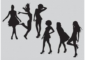 Silhouette Girls Vectors