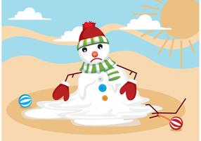Melting Snow Man Vector