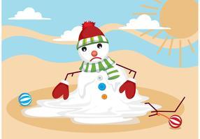 Melting Snow Man Vector