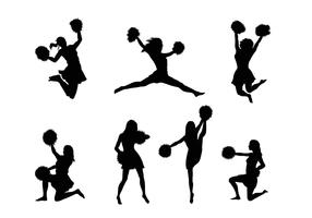 Cheerleader Silhouette Vectors