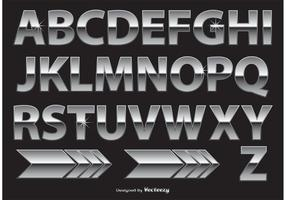 Chrome / Metal Alphabet