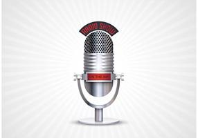 Free Retro Microphone Vector