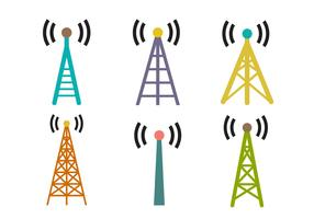 Cell Tower Vector Set