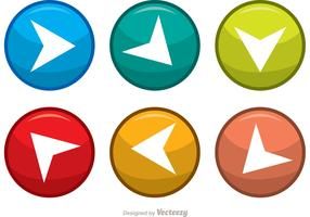 Next Steps Arrow Button Vectors