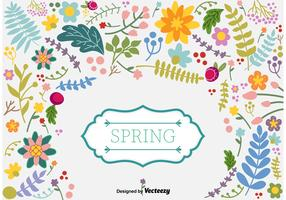 Spring Floral Vector Background