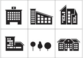 Hospital Building Icons