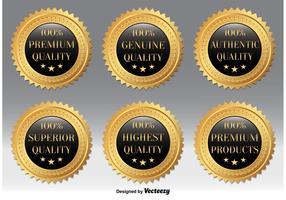 Gold Quality Badges