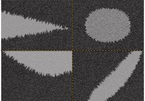 Free Torn Black Jeans Fabric Vector
