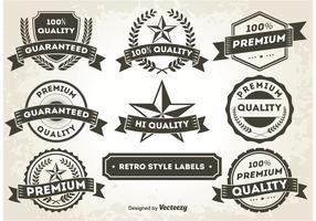 Retro Style Promotional Labels / Badges