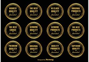 Gold  Promotional Badges