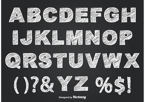 Chalkboard Style Alphabet