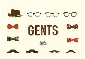 Hipster Gentlemen Vectors