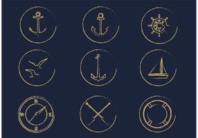 Free Vector Nautical Icon Set