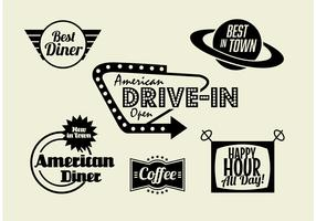 50s Diner, Coffee, and Fast Food Pack
