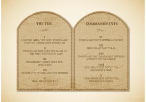 Free 10 Commandments Vector