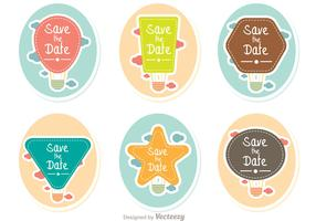 Save The Date Hot Air Balloons Vector Pack