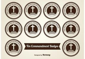 Ten Commandment Badges