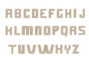 Art Deco Alphabet Vector Pack