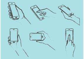 Free Hand Drawn Smarphones