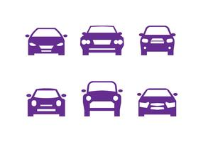 Purple Car Front Silhouettes