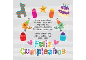 Cumpleaños Invitation Vector
