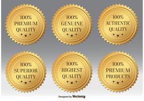 Gold Premium Quality Badges