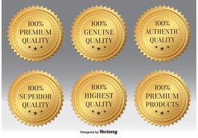 Gold Premium Quality Badges