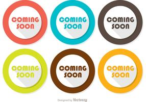 Coming Soon Flat Icons Vector Pack