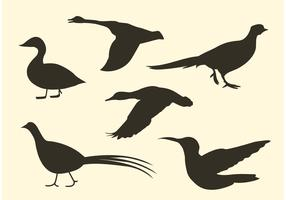 Free Bird Vector Silhouette Pack
