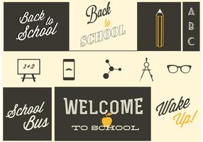 Retro Back to School Vectors