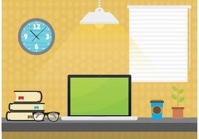 Student Desktop Vector