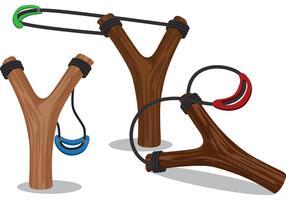 Wooden Slingshot Design Vectors