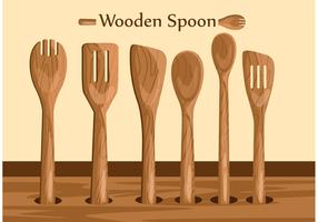 Wooden Spoon Vectors