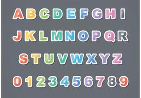 Free Vector Sticker Letter Set