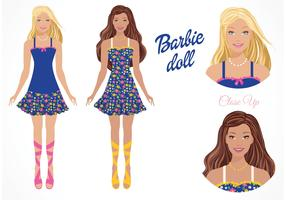 Free Vector Barbie Doll
