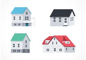 Free Vector Isometric Houses