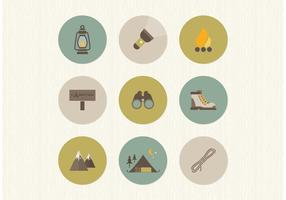 Free Flat Camping Vector Icons