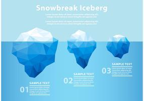 Polygonal Iceberg Underwater