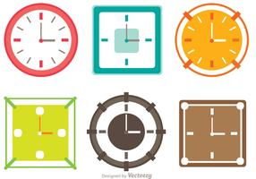 Colorful Clocks Vector Pack
