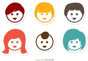Simple Children Vectors Pack